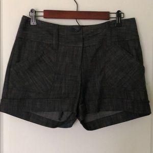 Maurices Black Denim Shorts sz 3/4